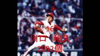 プロ野球 投手歴代記録【通算奪三振】 BEST30