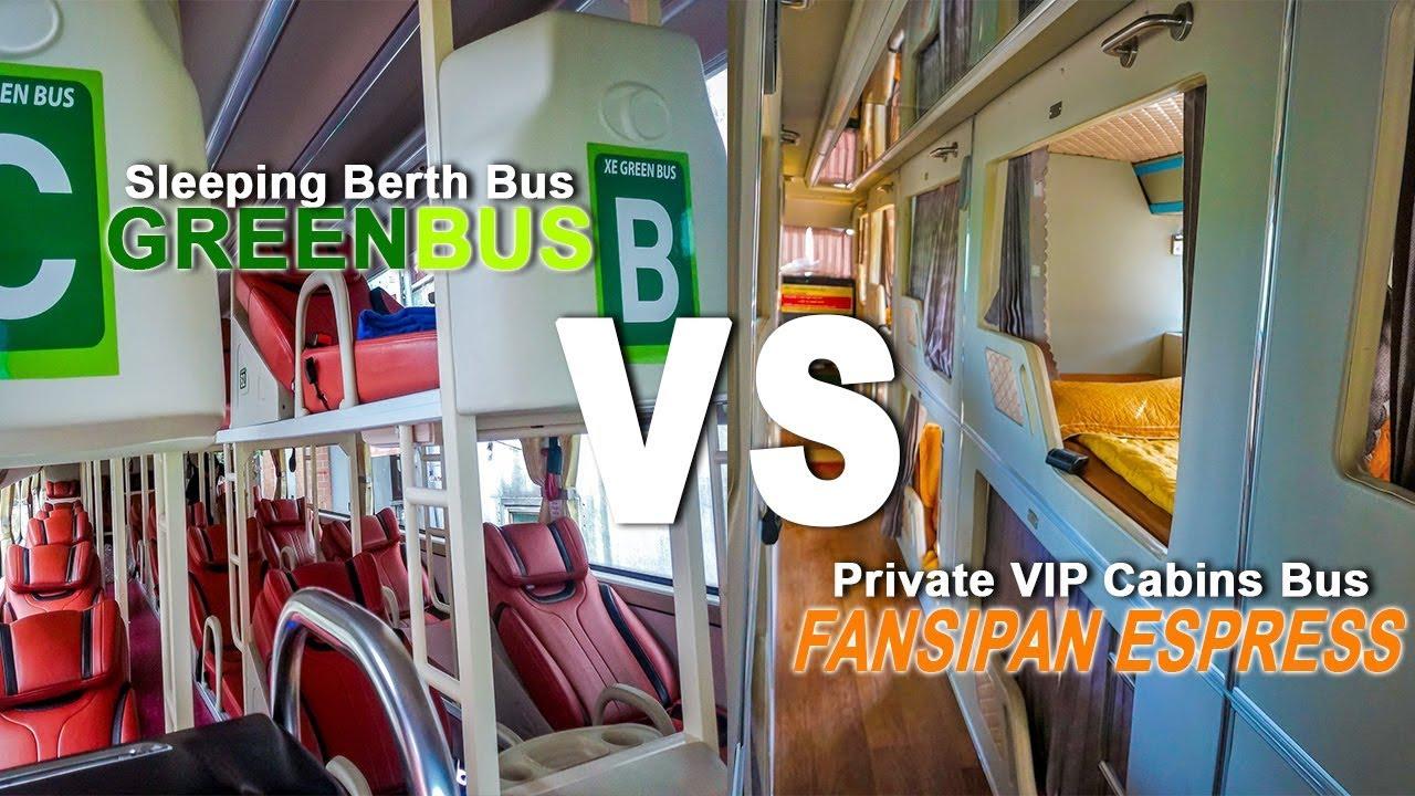 Hanoi to Sapa Sleeper Bus Comparison – Private Cabin Type VS Open Sleeping Berth Type (Vietnam)