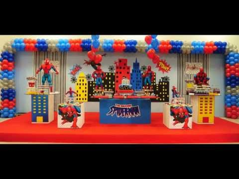 Festa do Homem Aranha | Decoração de festa infantil