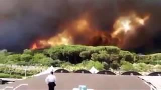 Pauroso incendio sul Vesuvio - Napoli Fanpage