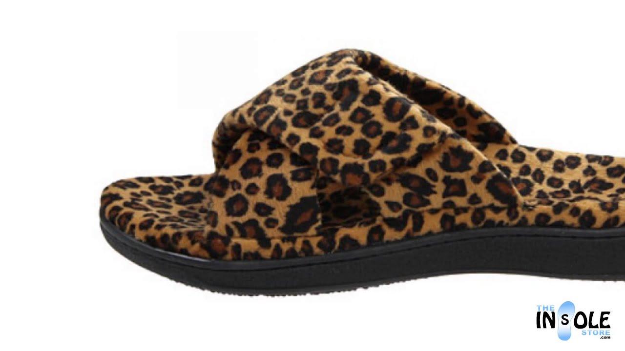 a088a07b1f61 Vionic Orthaheel Tan Leopard Relax Slippers   TheInsoleStore.com