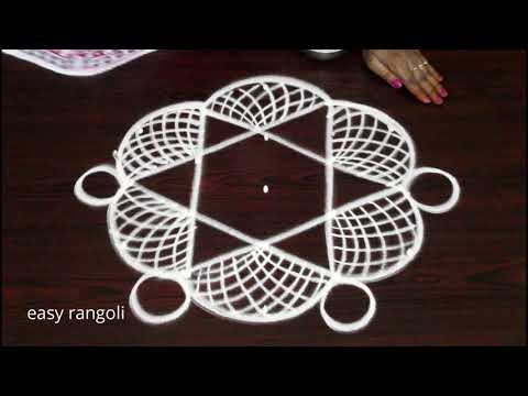 Daily routine beginners mggulu designs by Suneetha || easy & simple rangoli kolam