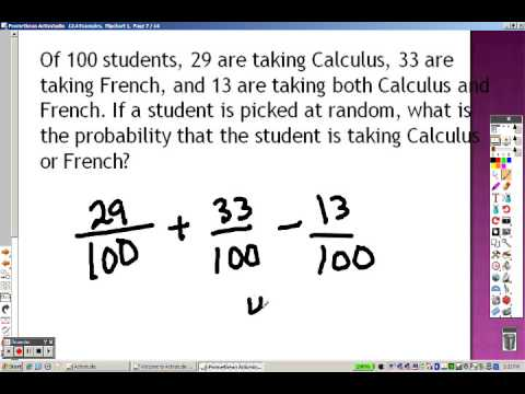 Algebra 2 124 Part 2 Examples Probability Of Compound Events Youtube