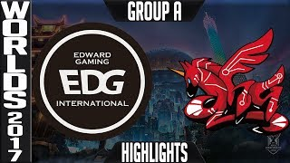 EDG vs AHQ Highlights S7 Worlds 2017 Group Stage Day 1 Game 6 Group A - Edward Gaming vs AHQ e Sport