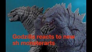 Godzilla reacts to new sh monsterarts (short stopmotion)
