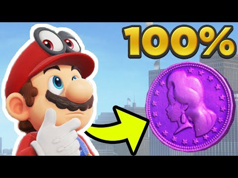 Super Mario Odyssey - Metro Kingdom ALL 100 REGIONAL COIN LOCATIONS! [100% Guide]