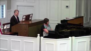 to god be the glory organ piano duet