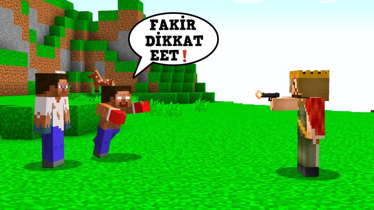 HEROBRİNE FAKİR'İN HAYATINI SON DAKİKADA KURTARDI! - 😱 - Minecraft