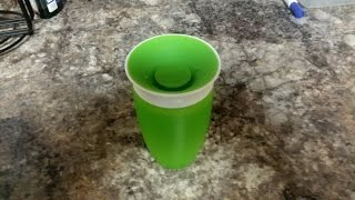Product Review munchkin 360 miracle cup demonstration
