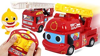 It's Fire~! Pinkfong RC Car dispatch! Pororo, help the Baby Shark Fire Truck!  | PinkyPopTOY