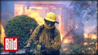 Buschbrand in Kalifornien - Das Atmen fällt schwerer