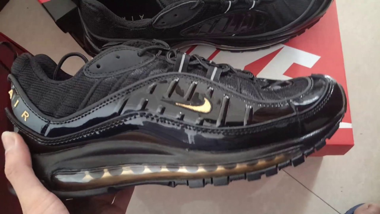 cheap for discount c8e22 7b744 Nike Air Max 98 Black Yellow 640744-080