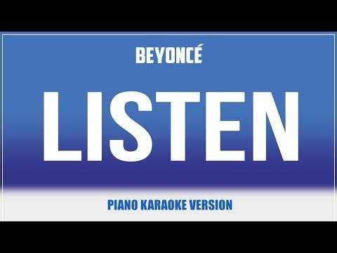 Listen (Piano Version) KARAOKE - Beyonce