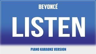 Listen (Piano Version) KARAOKE - Beyonce