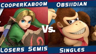 The Region Rumble #4 | Smash Ultimate | CooperKaboom (Young Link) VS Obsiidian (Donkey Kong)