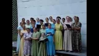 """Chambersburg Pa.Mennonite Youth Girls Sing """"Calling My Children Home"""""""