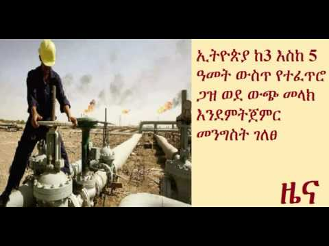 Ethiopia to begin natural gas export