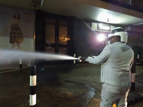 Governor Sonko leads team in fumigating Nairobi CBD and 85 Wards