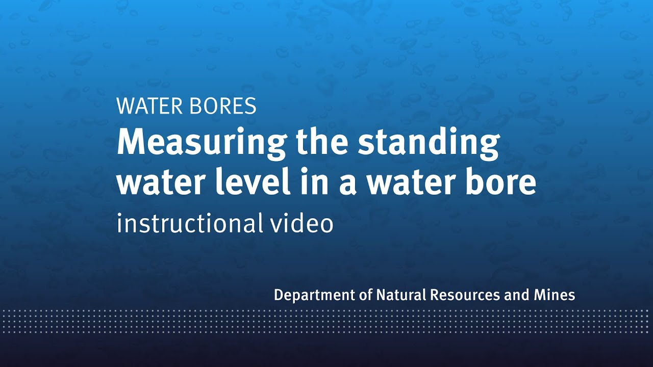 Measuring the standing water level in a water bore