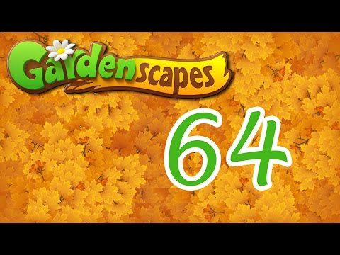 Gardenscapes level 64 Walkthrough