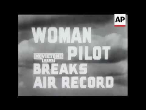 WOMAN PILOT BREAKS AIR RECORD