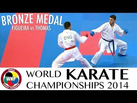 FIGUEIRA vs THOMAS. Bronze Medal. Male Kumite -67kg. 2014 World Karate Championships