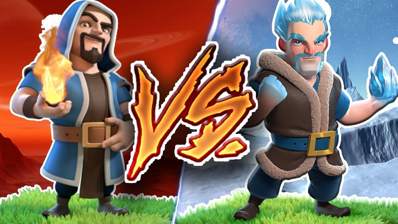 new ice wizard vs wizard new troop vs troop attacks clash of