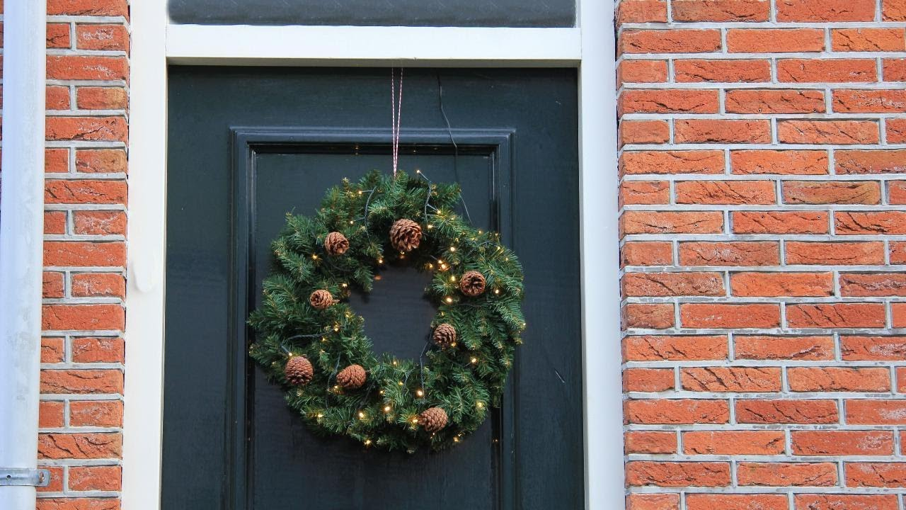 use this trick to hang a wreath