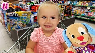 Supermarket Song Kids doing Grocery Shopping with Cozy Shopping Cart