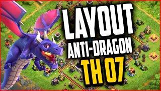 Clash of Clans - layout cv7 Anti Dragao (War Base For Th7 Anti Dragon Anti Giant)