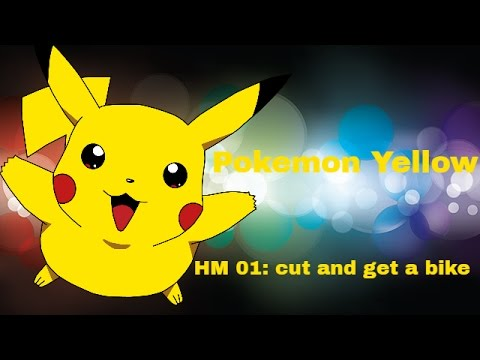 Pokemon Yellow, Blue, and Red HM 01: cut plus how to get the bike