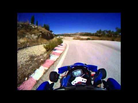 Go kart with aprilia af1 futara 125 (rotax 123 engine) vs toni kart  (Gopro Hero helmet cam)