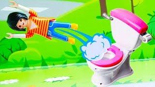 Мультики с игрушками - Волшебный туалет! Новые игрушечные мультфильмы и видео для детей на русском