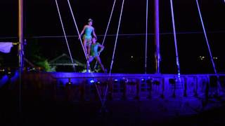 "Night show ""Le nuove avventure di Peter Pan"" a Mirabilandia - passo a due Peter Pan e Trilly"