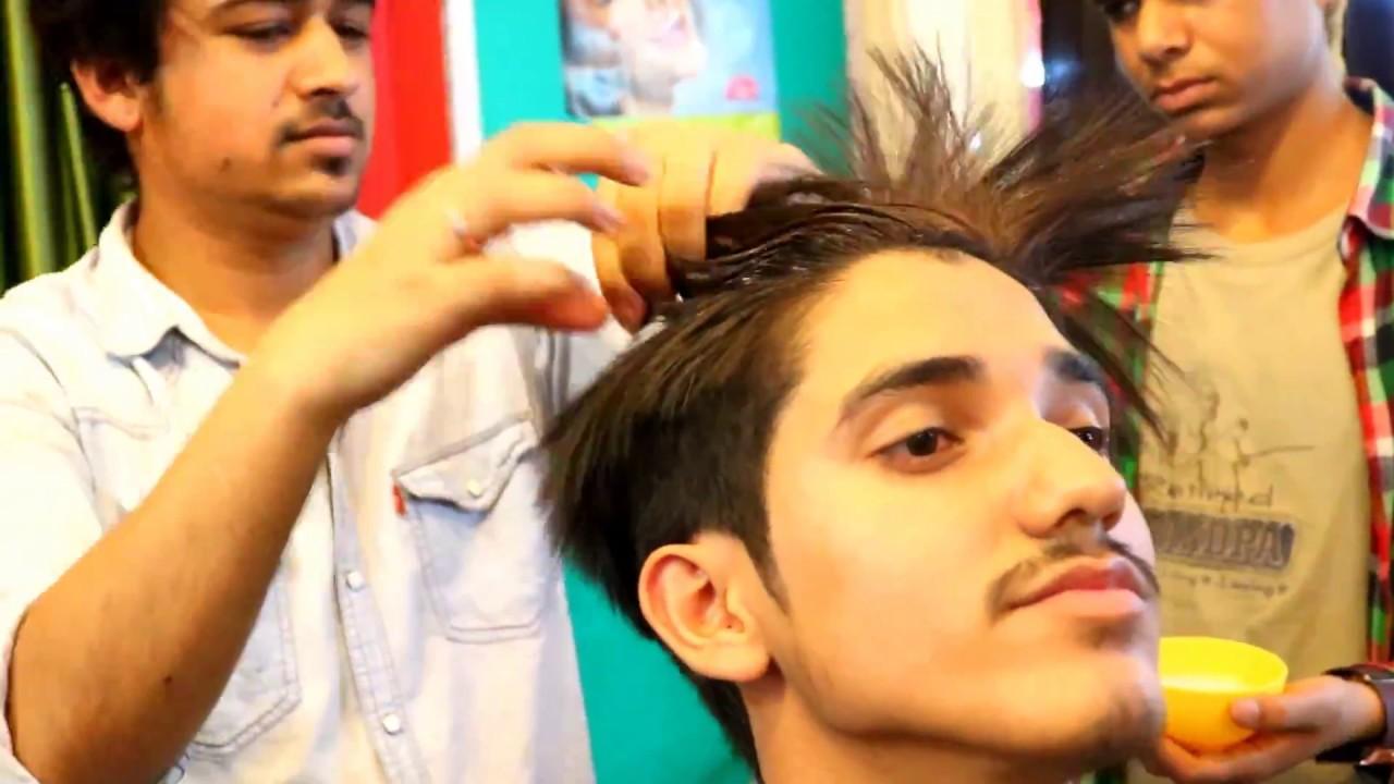 Rebonding Smoothning Straightening Of Men S Hair By Matrix Professional Youtube