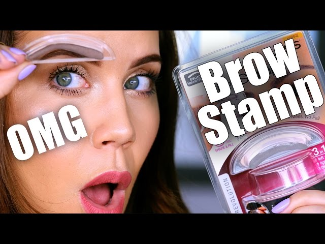 Eyebrow Stamp Makeup Trend
