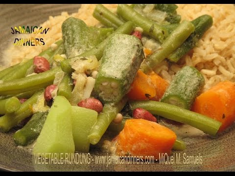 VEGETABLES RUNDUNG: Rastafarian Vegetarian Dinners Veganbook