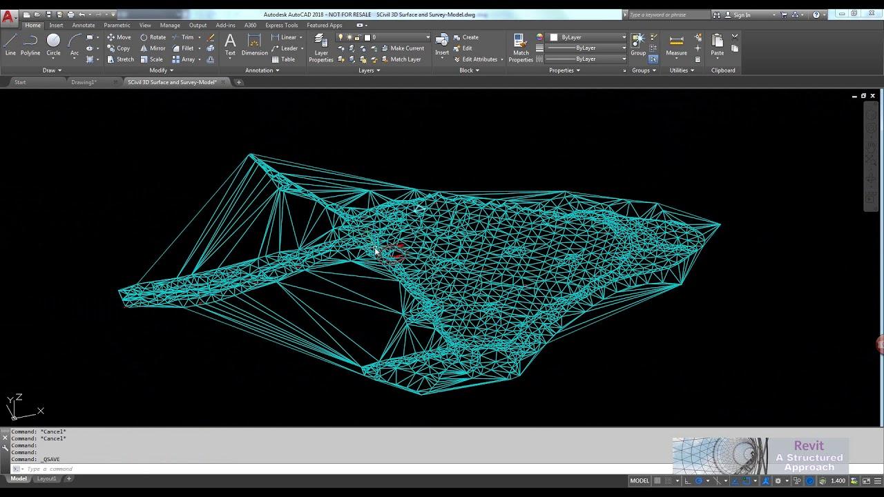 Tutorial – AutoCAD Civil 3D Surface to Revit Topography