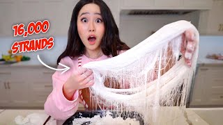 we made the IMPOSSIBLE DRAGON'S BEARD COTTON CANDY! 16,000 strands of candy!