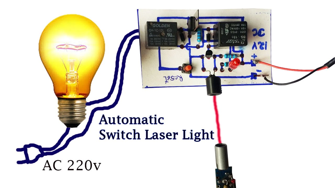 How to Create Automatic Switch Laser Light circuit - Security Light ...