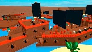 Стал ПИРАТОМ и ПОТОПИЛ кучу вражеских кораблей! Pirate Wars, Детское видео, обзор игры, let's play.