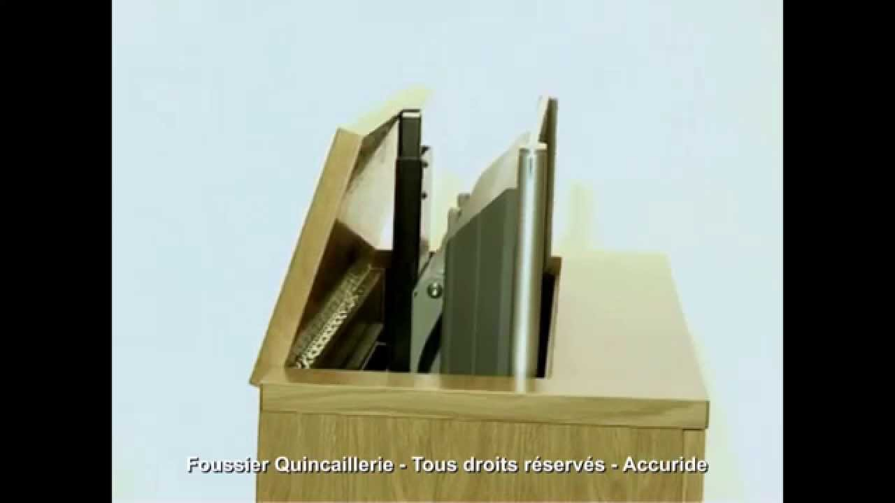 accuride systeme de levage pour televiseur youtube. Black Bedroom Furniture Sets. Home Design Ideas