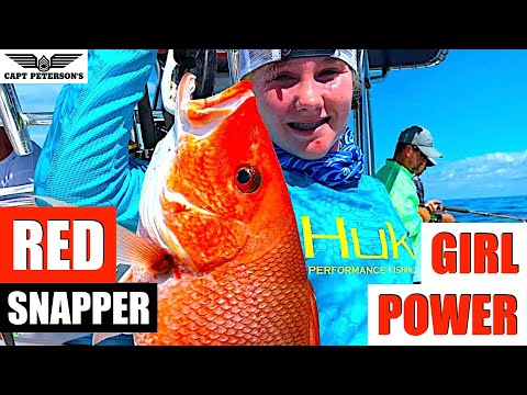 Girl Power - Red Snapper caught just off St George Island, FL.