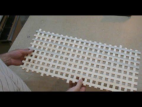Декоративная решётка из дерева. How to make wooden lattice fence. смотреть в хорошем качестве