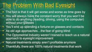 Eyesight Problems - Can It Really Be A Cured Naturally?