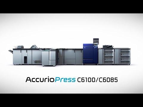 Konica Minolta AccurioPress C6100 Digital Color Press with IQ-501 Optimizer