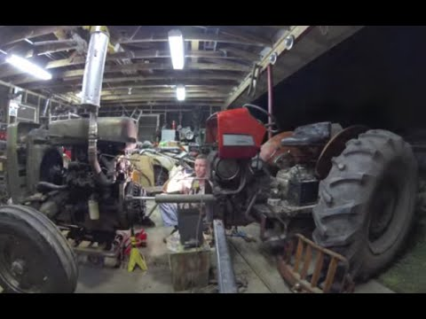 Breaking a Tractor In Half - Clutch Repair - YouTube