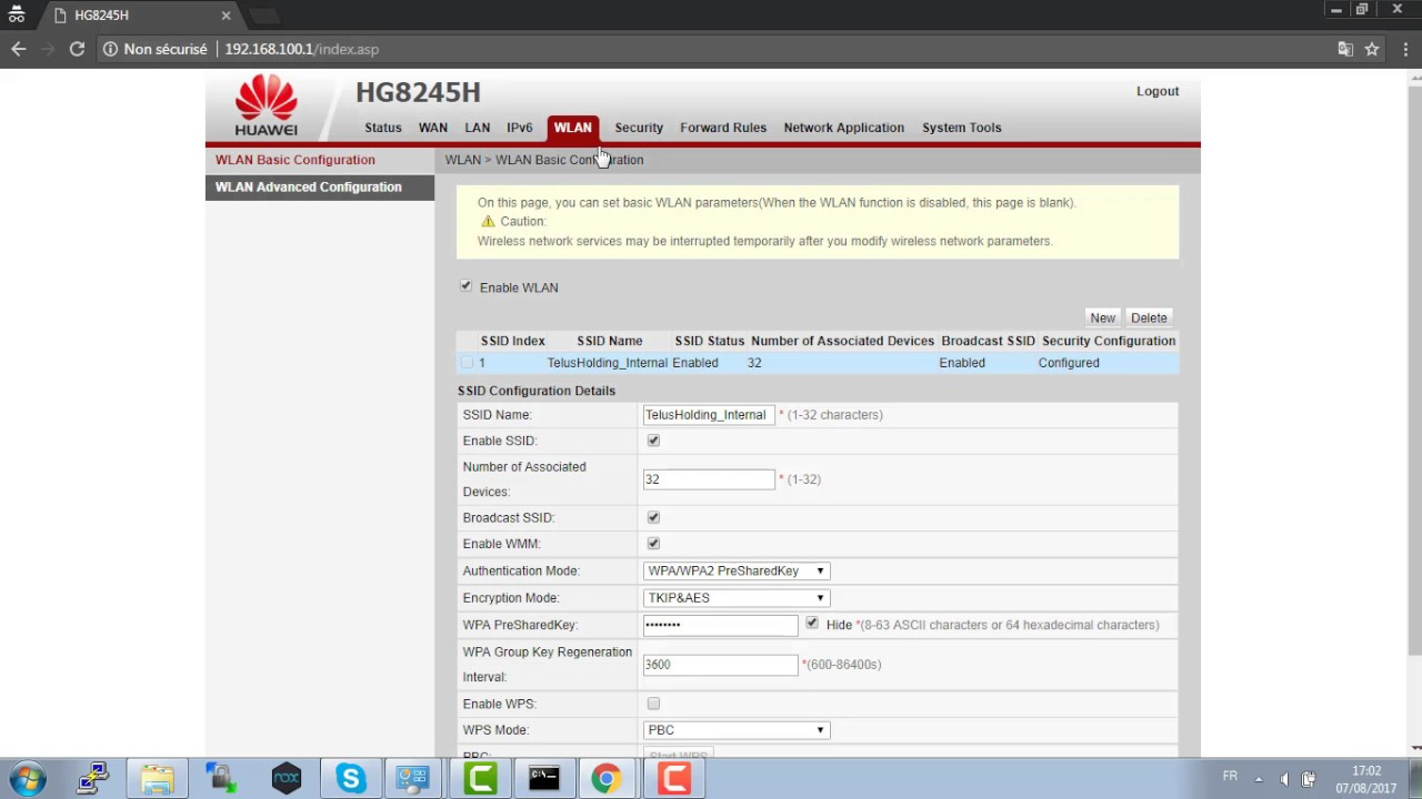 كيفية ضبط إعدادات روتر-- Configuration router -- HUAWEI HG8245H