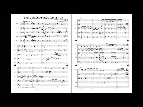 Prelude and Fugue in D Minor by J.S. Bach/arr. John Leavitt