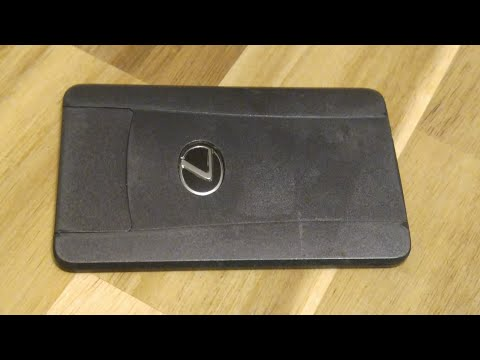 Lexus Smart Key Wallet Card Battery Replacement - Valet Keyless Entry Remote